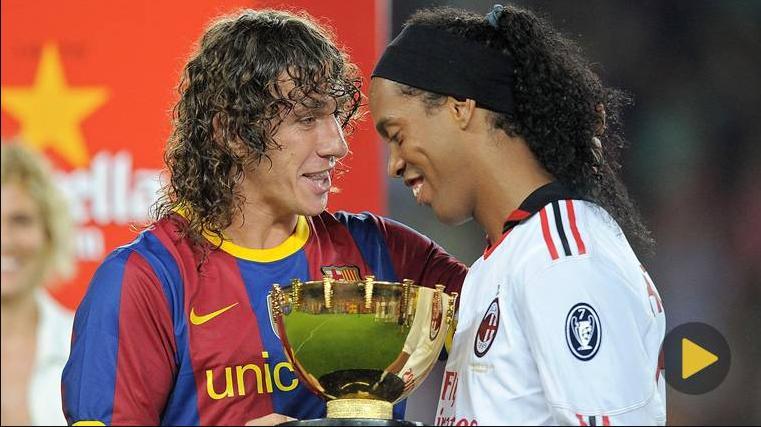 Carles Puyol và Ronaldinho